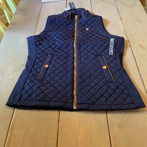 US Polo Assn. Women's Quilted Vest Blue